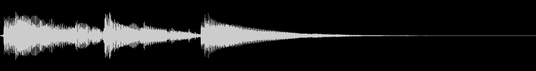 アコギ生音のジングル/爽やか2の未再生の波形