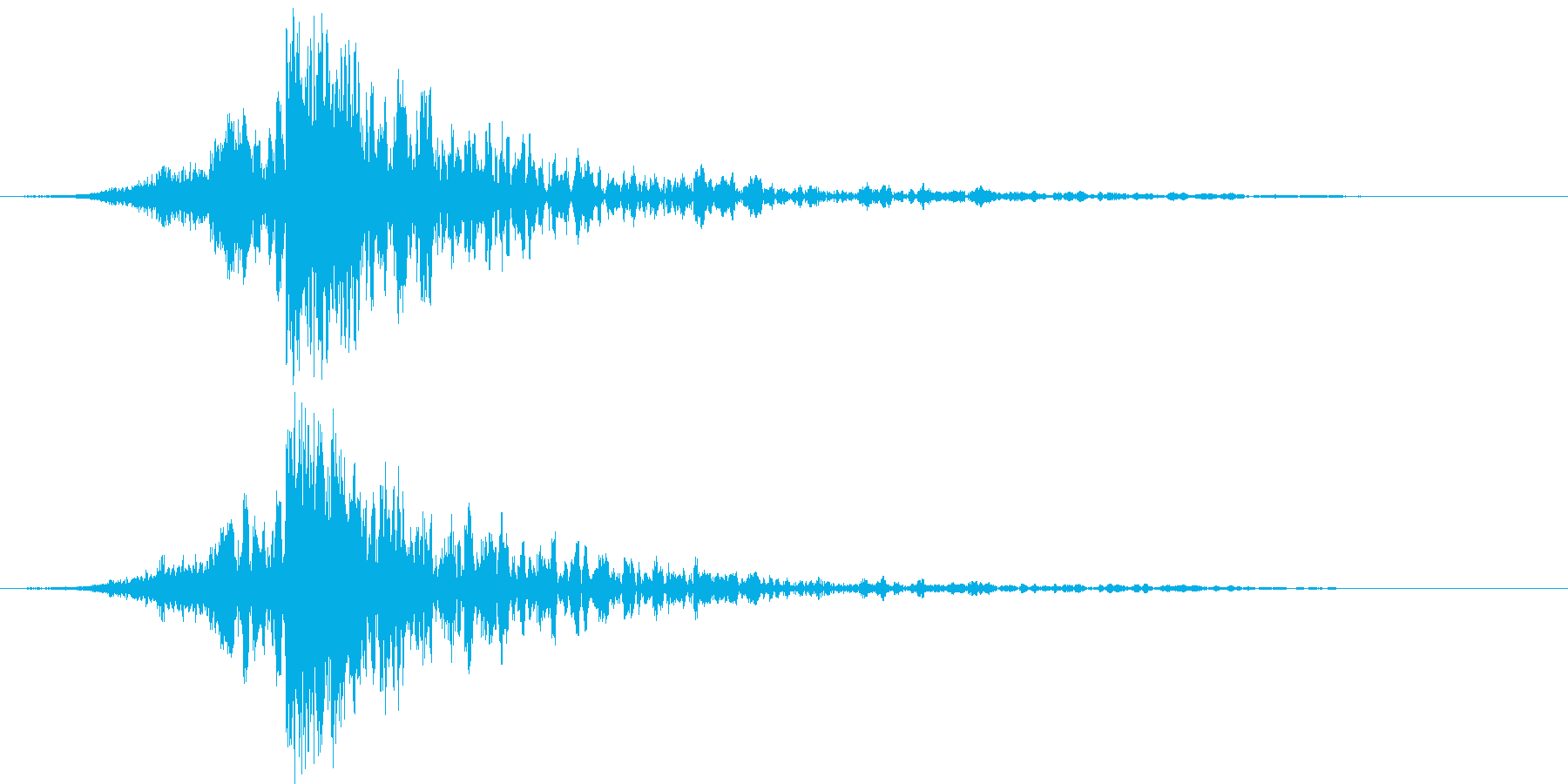 映画に合う効果音11の再生済みの波形