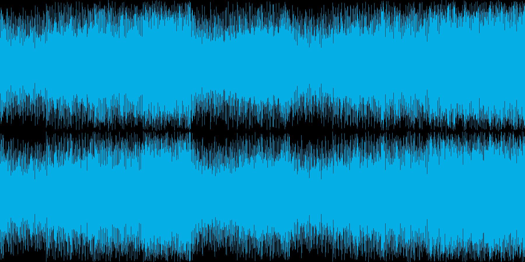 【ループ用】お洒落で力強いゲーム戦闘曲の再生済みの波形