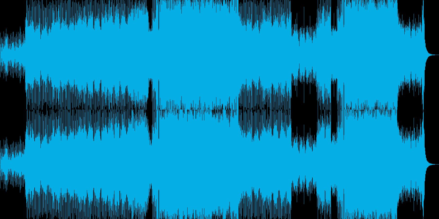 現代的で疾走感のあるEDMの再生済みの波形