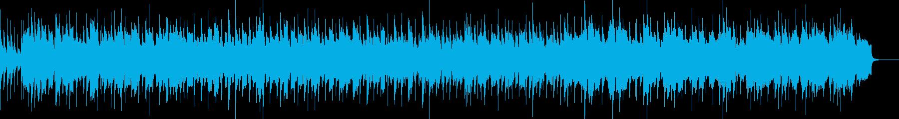 フィドルによるアイリッシュ風お祭り曲の再生済みの波形