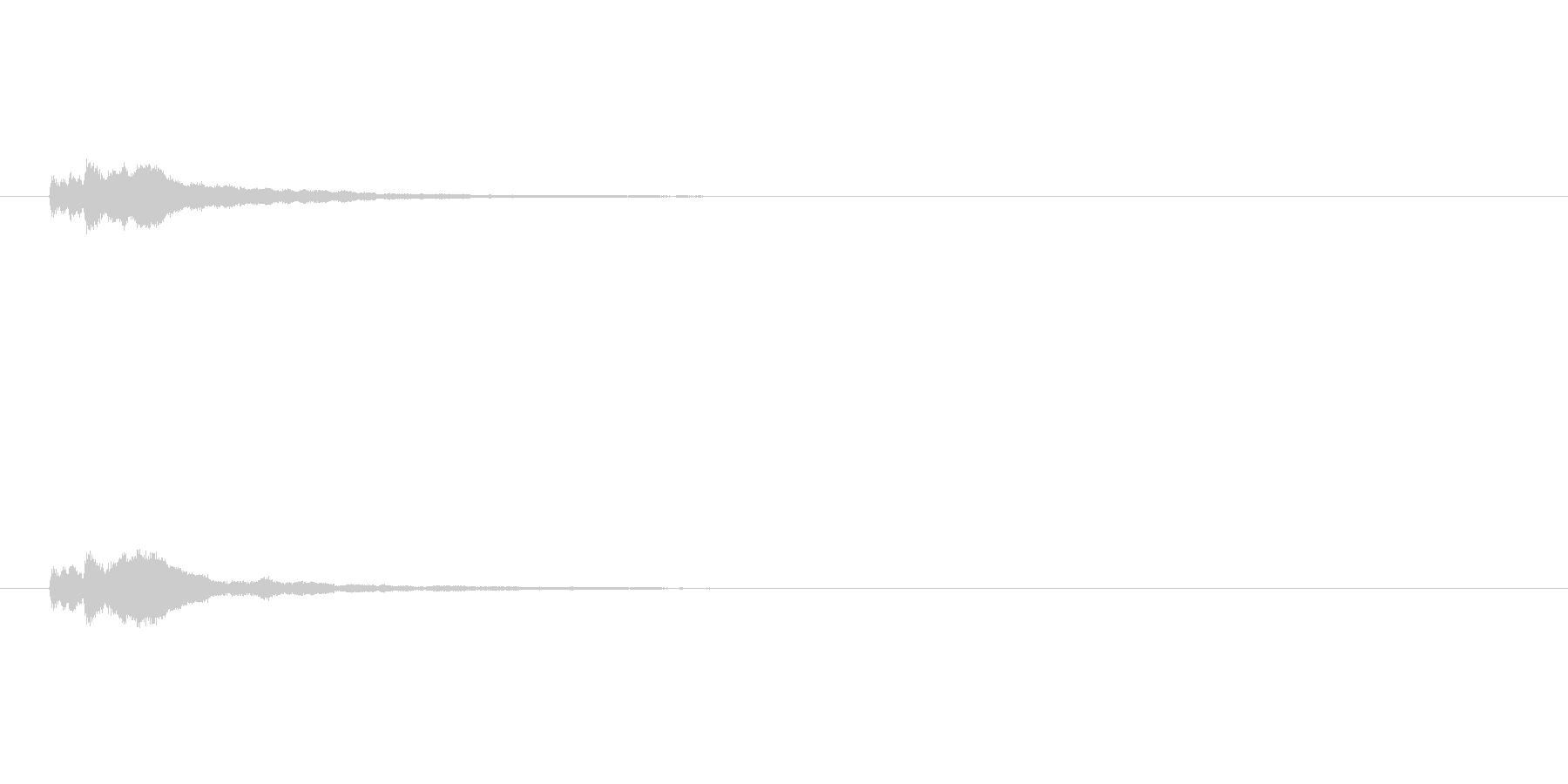 【アクセント13-3】の未再生の波形