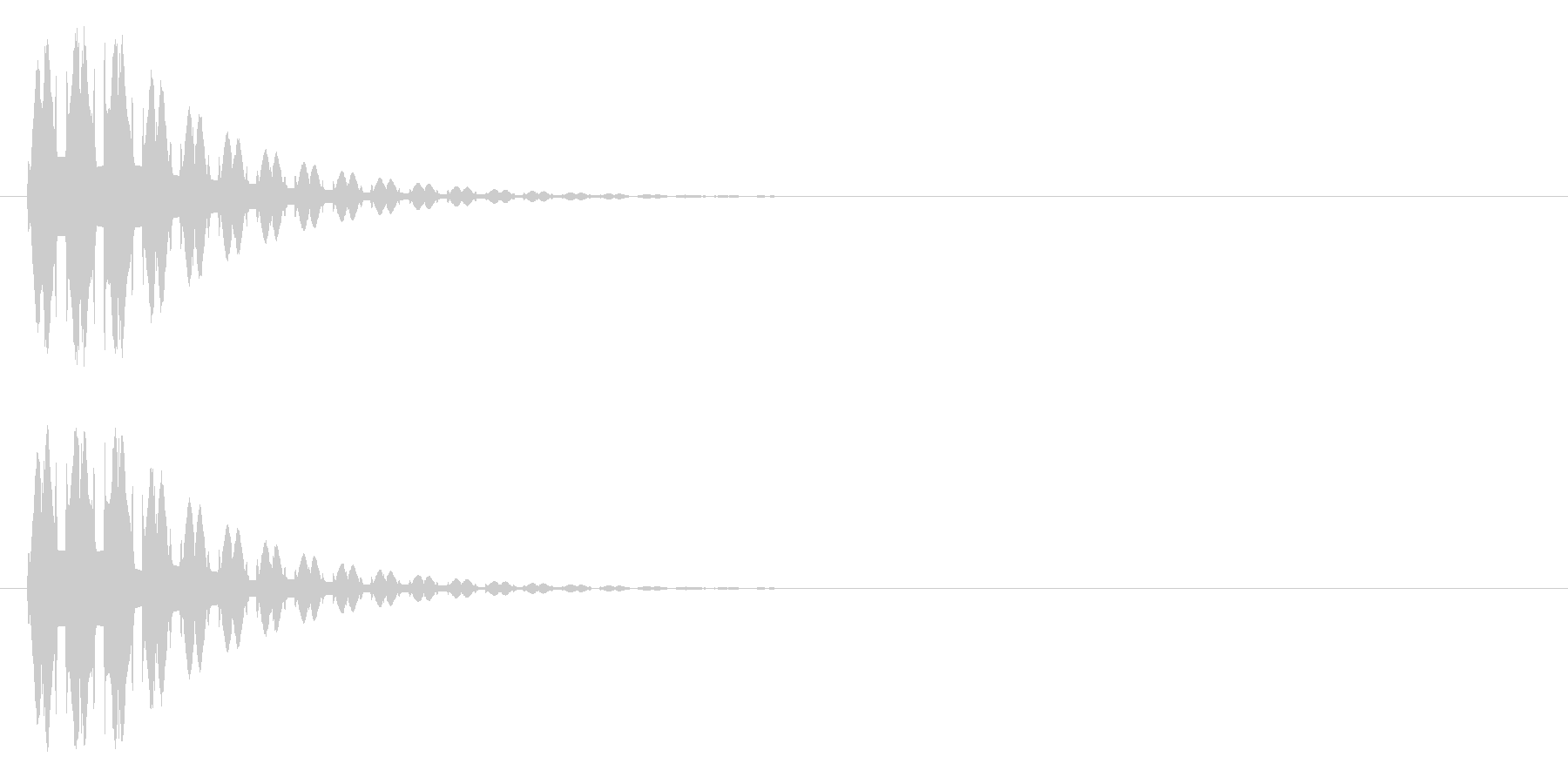 消える、ワープ等の未再生の波形