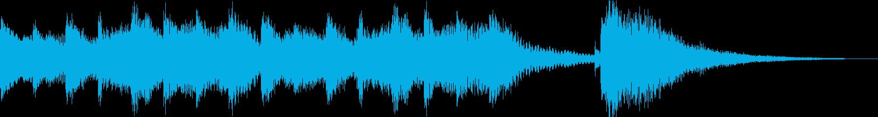 シンプルなピアノの再生済みの波形