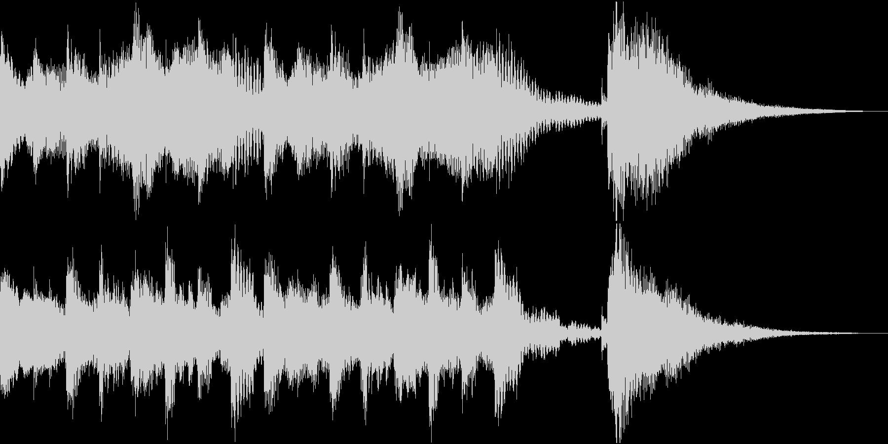 シンプルなピアノの未再生の波形