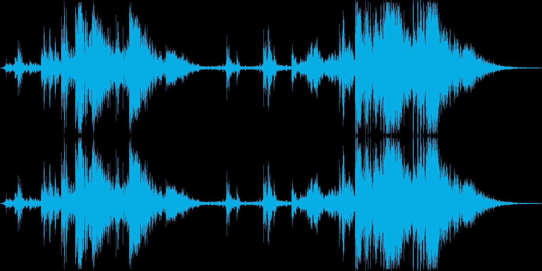 古い機械のガシャンガシャン2(ループ)の再生済みの波形