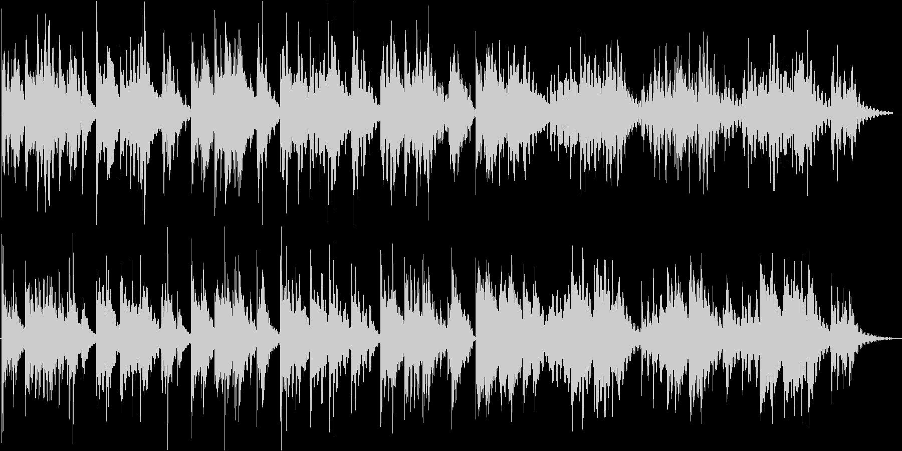 雨のようなエレキピアノとベルの響きの未再生の波形