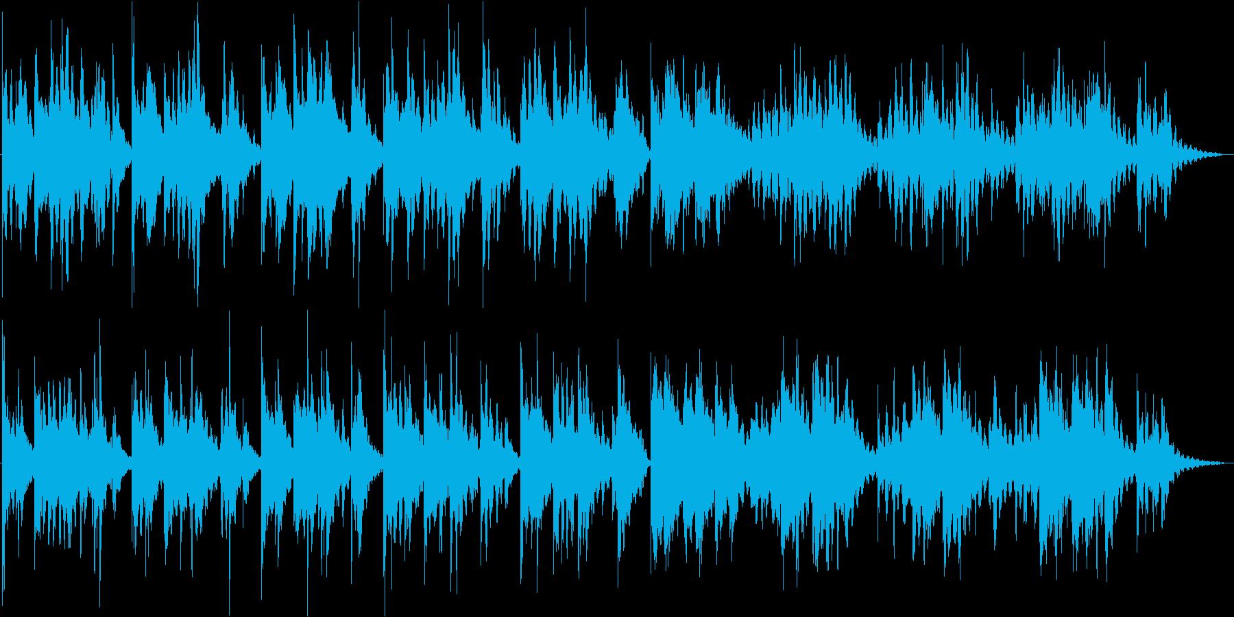 雨のようなエレキピアノとベルの響きの再生済みの波形