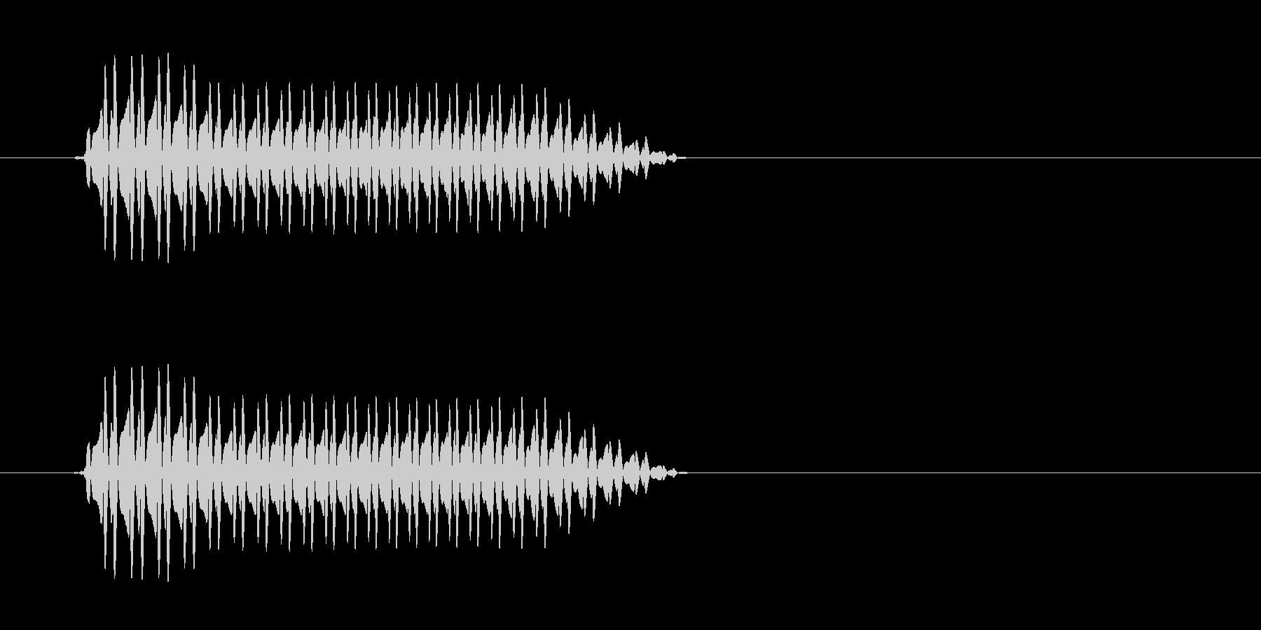 ぷぅ〜(おならのような音)の未再生の波形