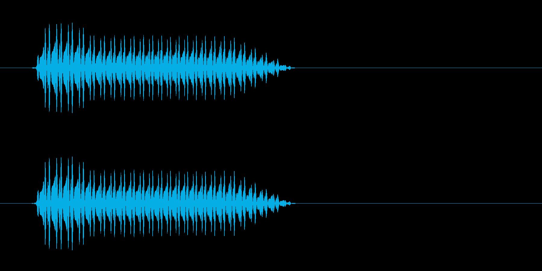 ぷぅ〜(おならのような音)の再生済みの波形