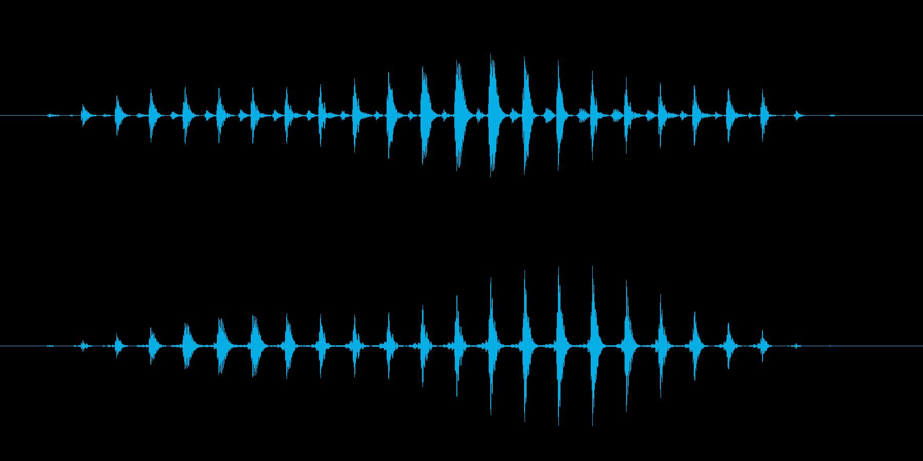 パワーダウン効果音 おかしな音 楽しい音の再生済みの波形