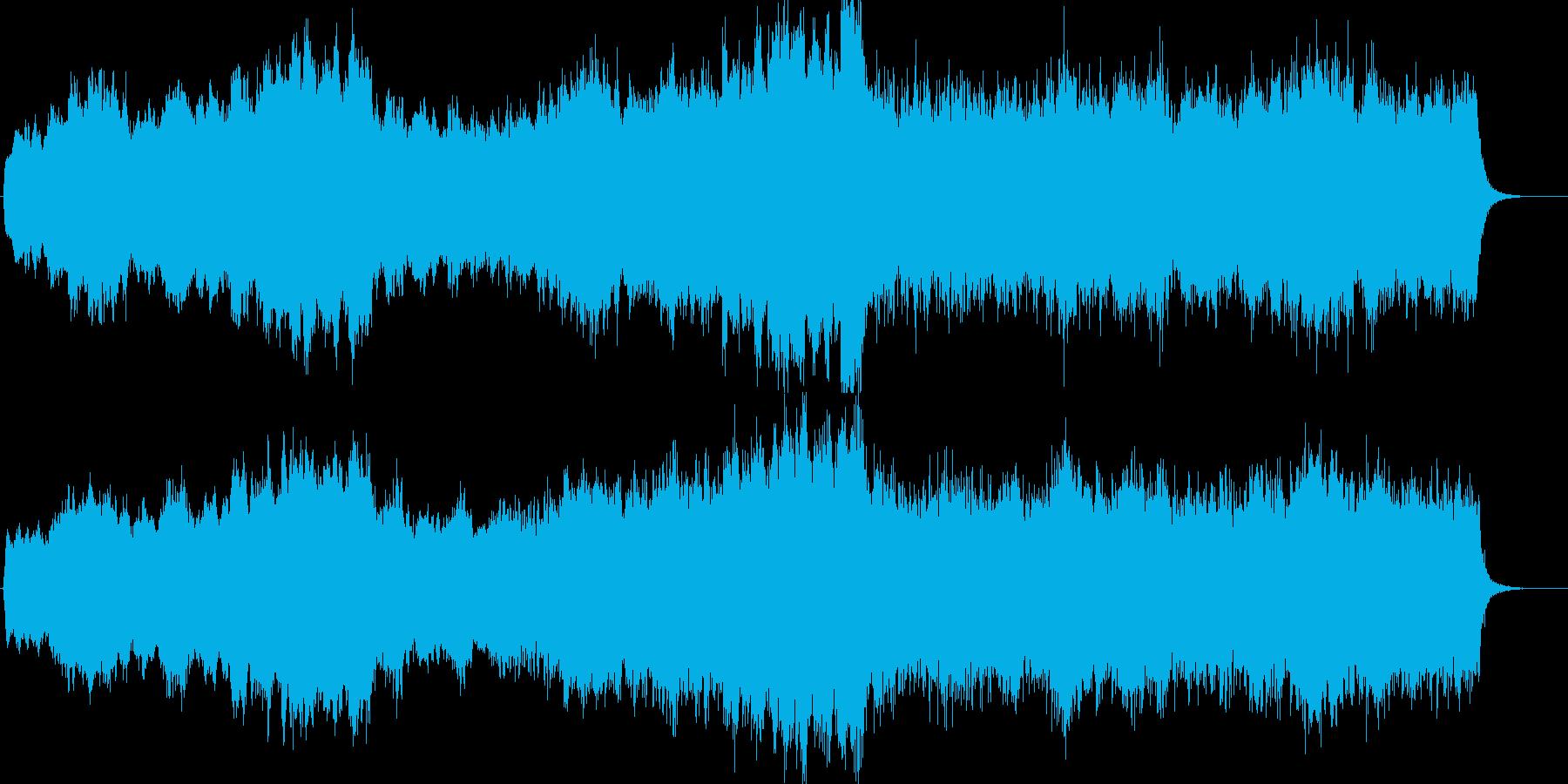 パイプオルガンによる荘厳な教会風BGMの再生済みの波形