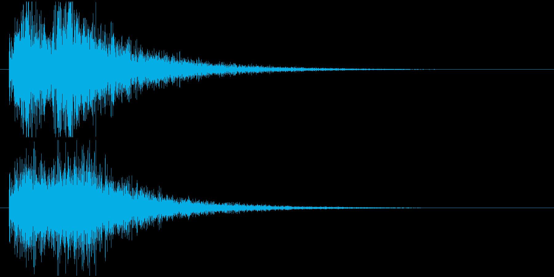 クイズ出題音(ジャジャン!)の再生済みの波形