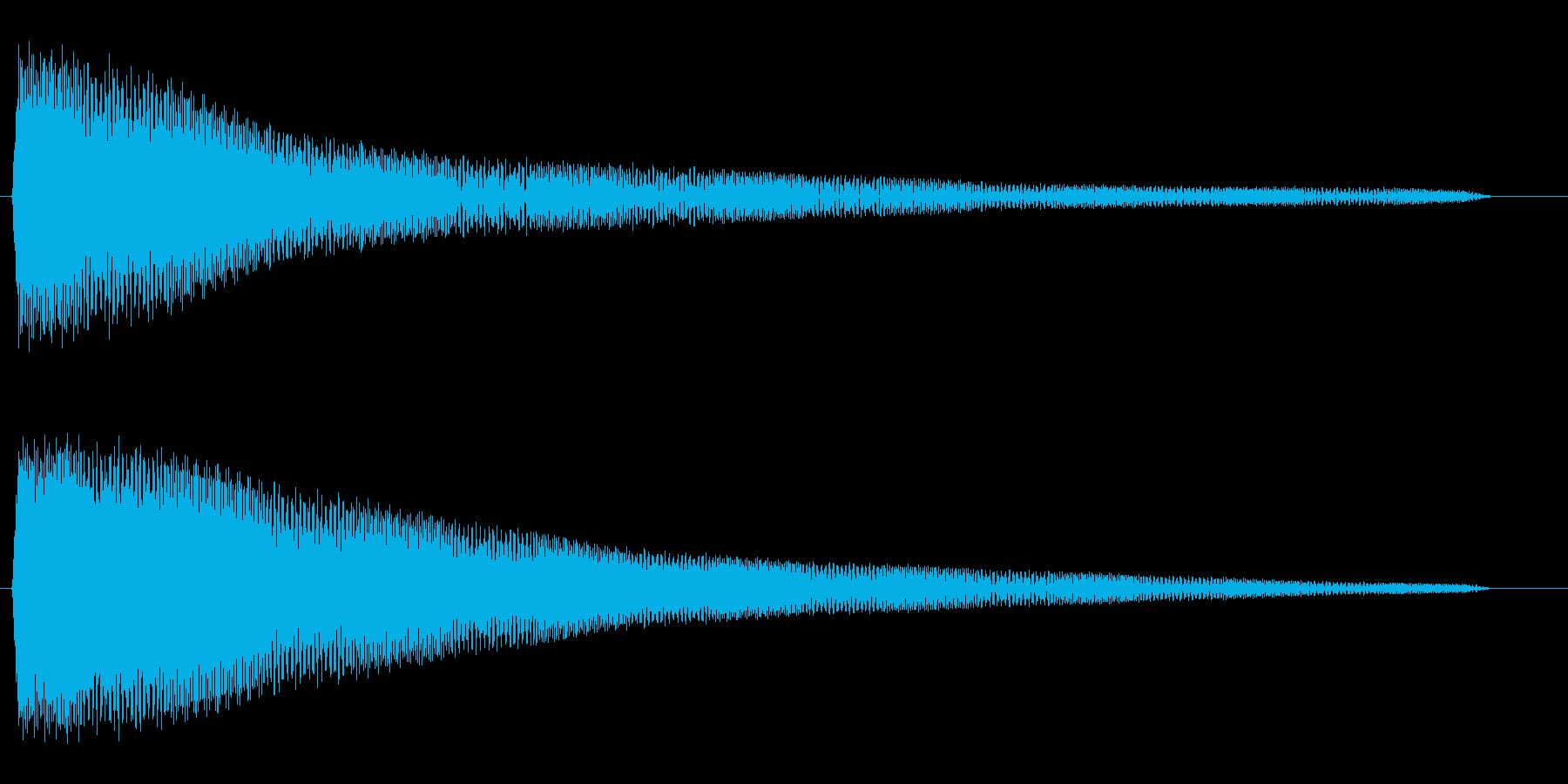 ポワワワワン (コミカルな波形音)の再生済みの波形