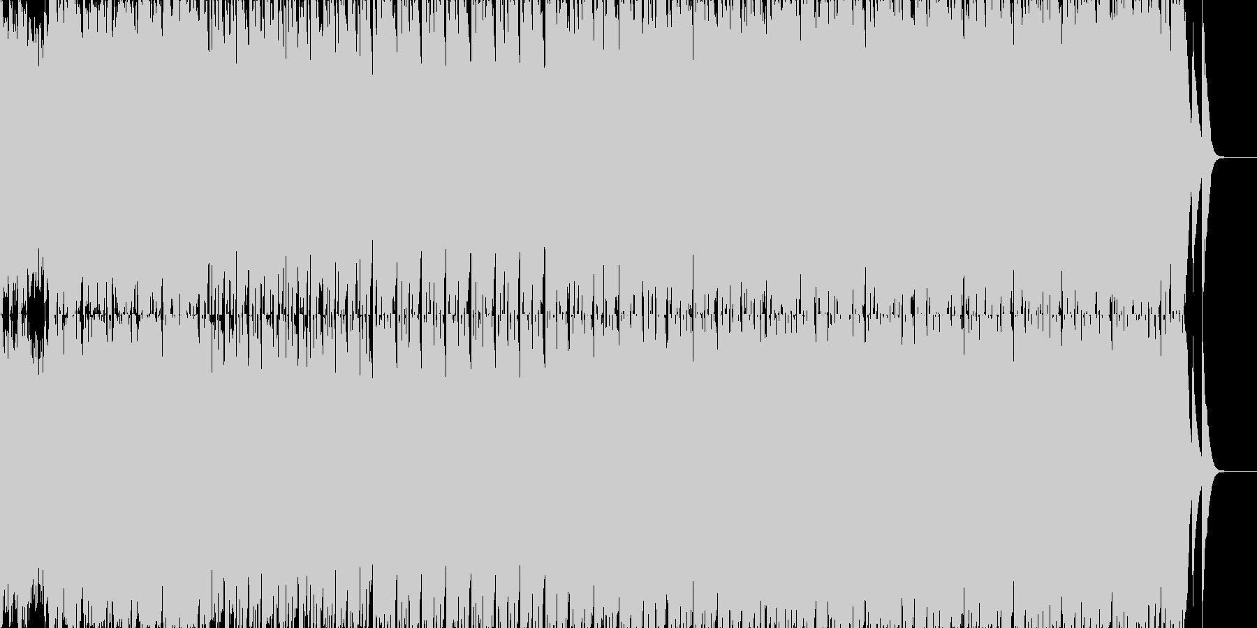 80年代ぽい哀愁なハウスミュージックの未再生の波形