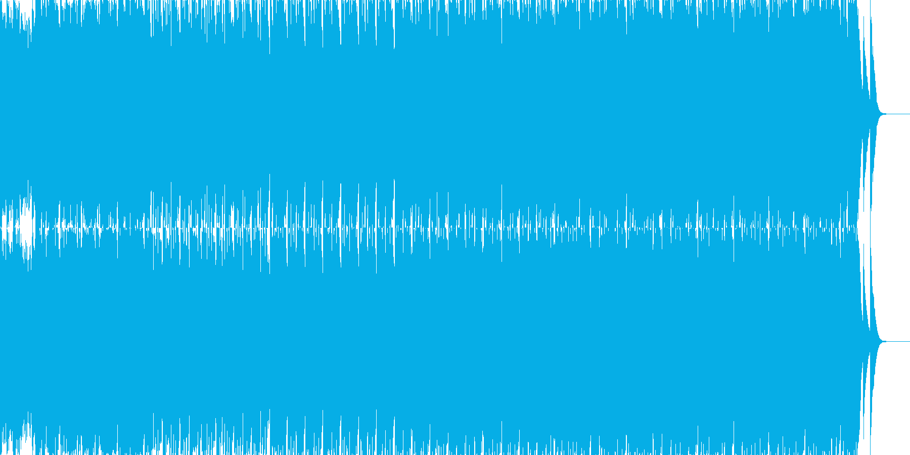 80年代ぽい哀愁なハウスミュージックの再生済みの波形