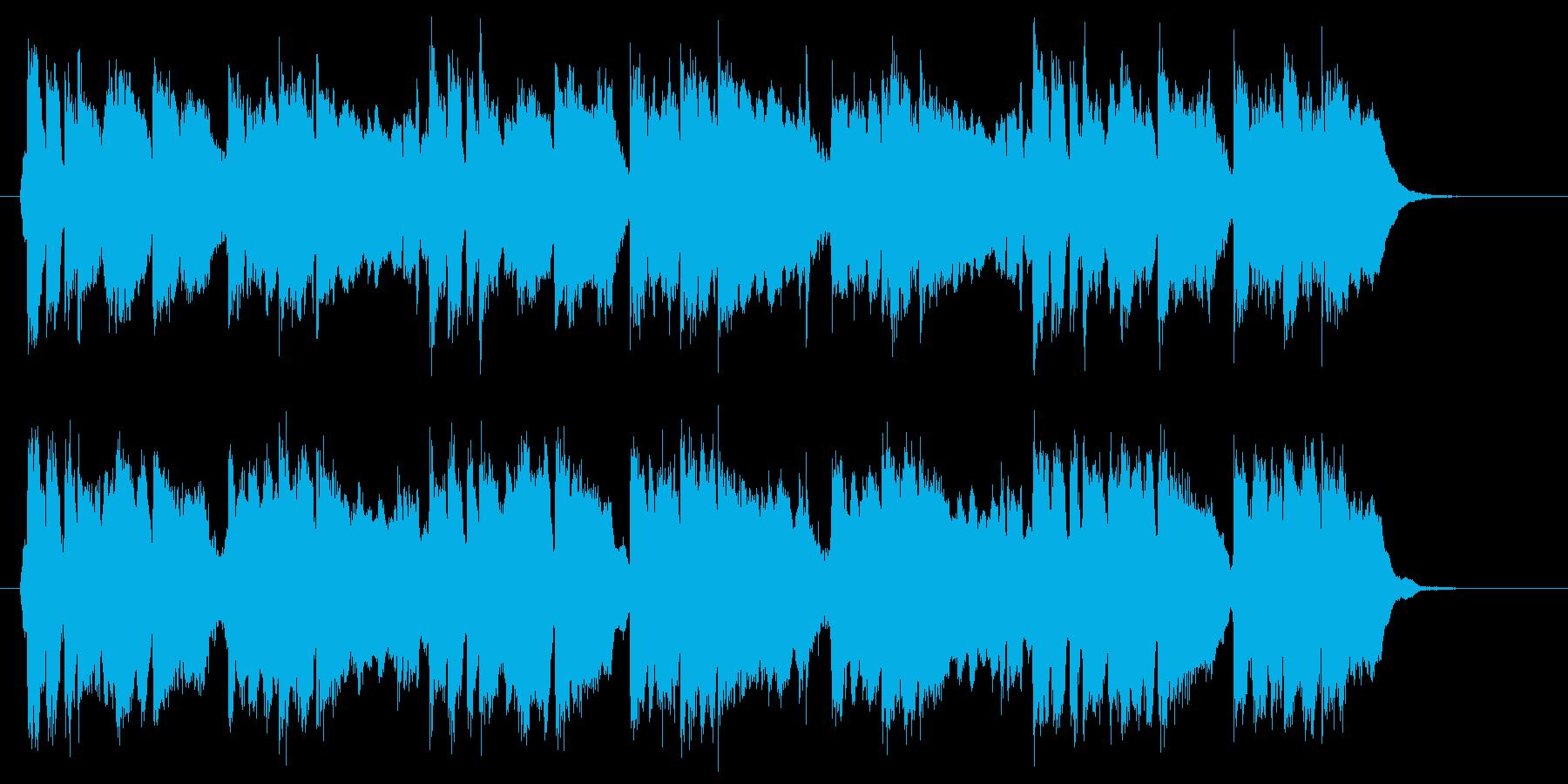 軽快な管楽器が特徴のポップスのジングルの再生済みの波形