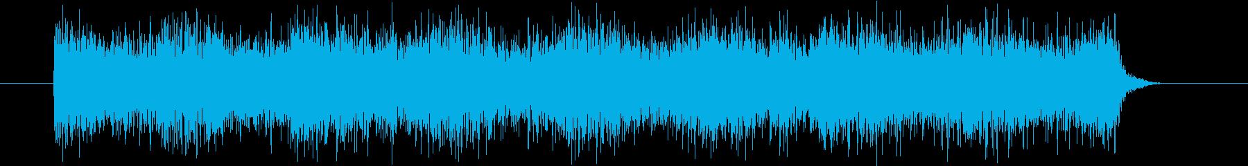 フオンフオンと空中でUFOが漂うイメージの再生済みの波形