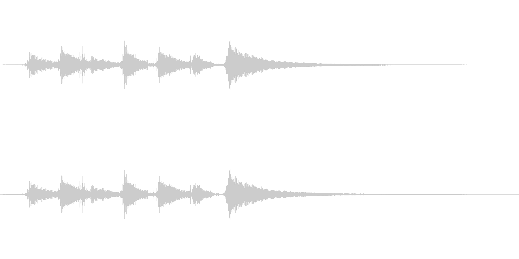 【生音】ウクレレののんびりなコード効果音の未再生の波形