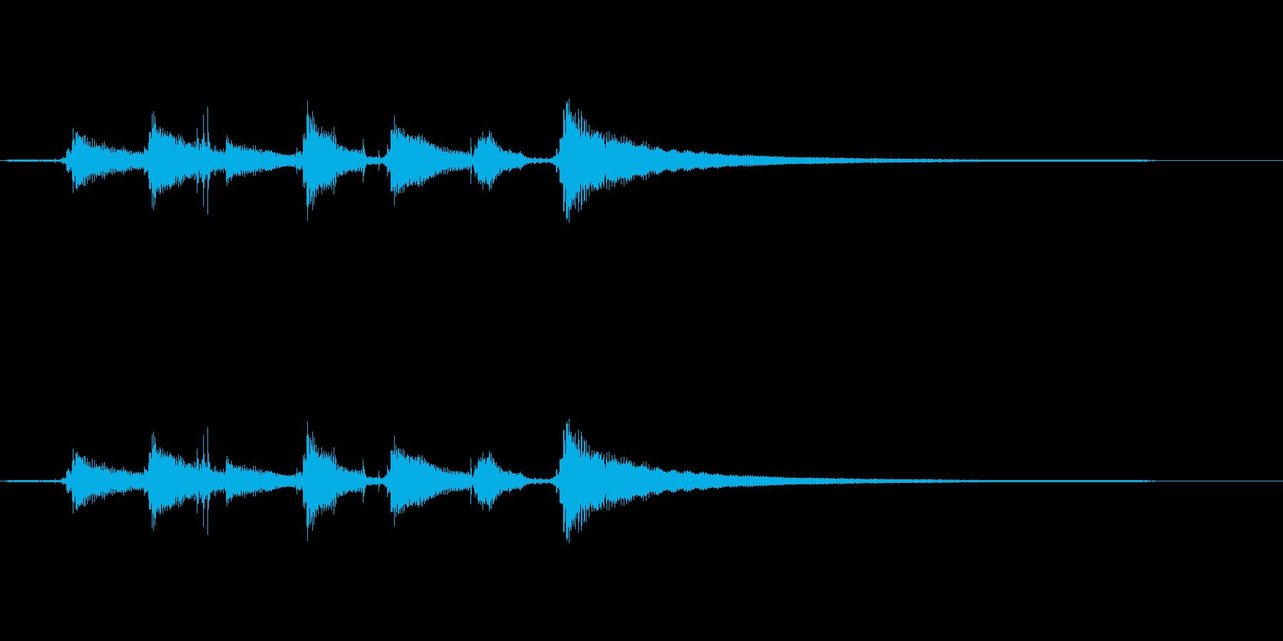 【生音】ウクレレののんびりなコード効果音の再生済みの波形
