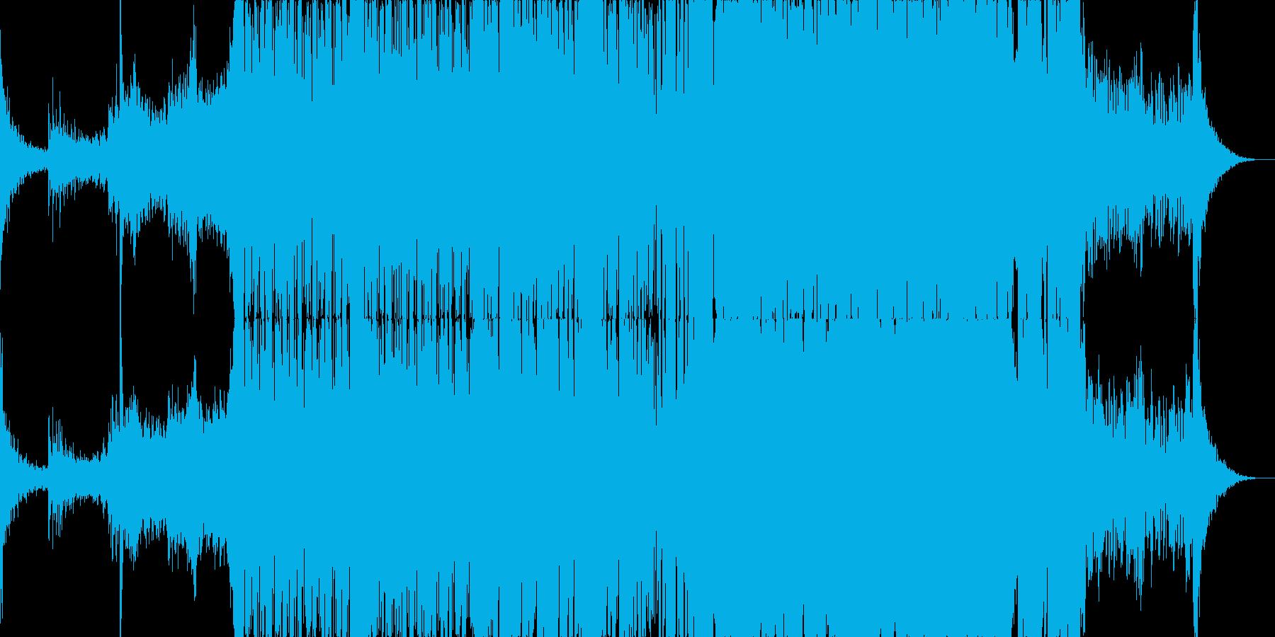 動画のBGM用途な優しめなダブステップの再生済みの波形