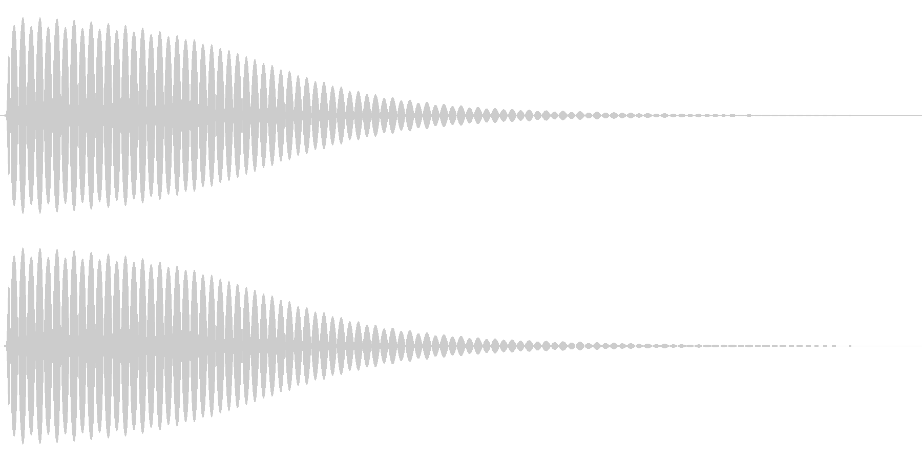 Com ファミコンなどのコマンド音 2の未再生の波形