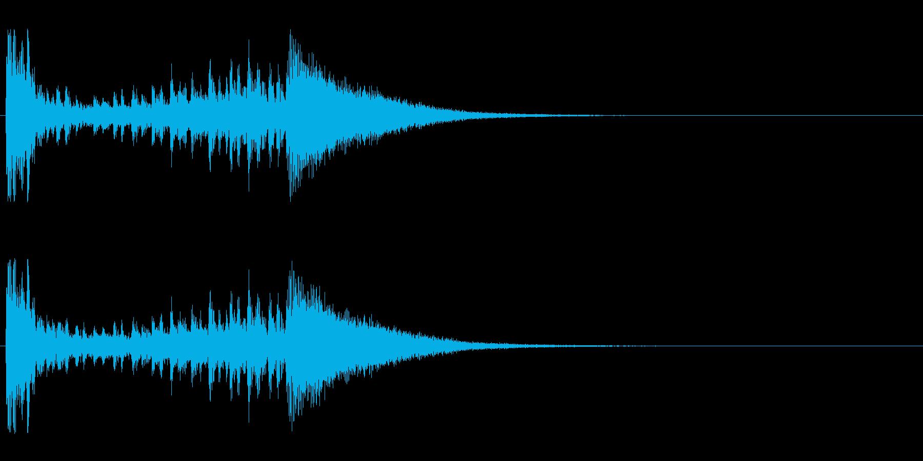 【結果発表01-1】の再生済みの波形