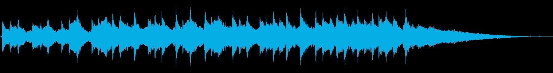 穏やかながらどこか憂いのあるピアノOPの再生済みの波形