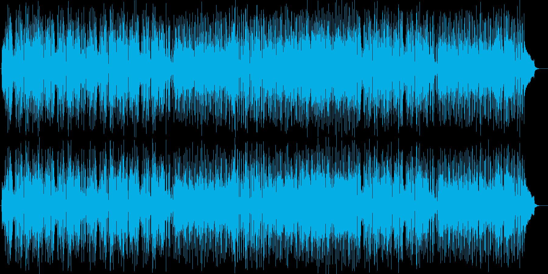 陽気な現代的シンセピアノサウンドの再生済みの波形