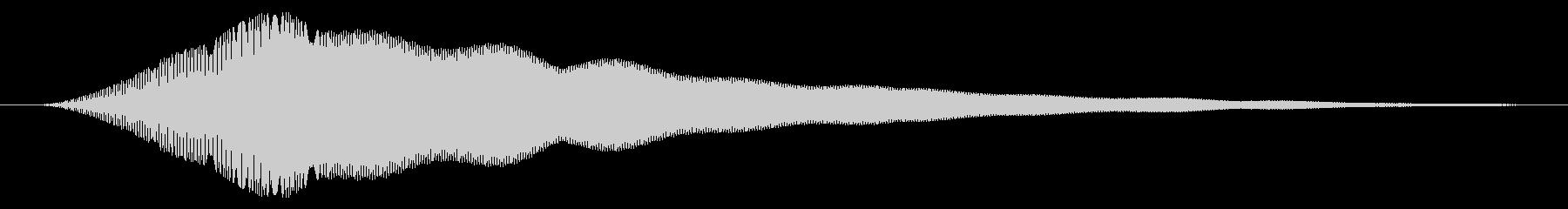 お知らせ/通知/キュイン↑の未再生の波形