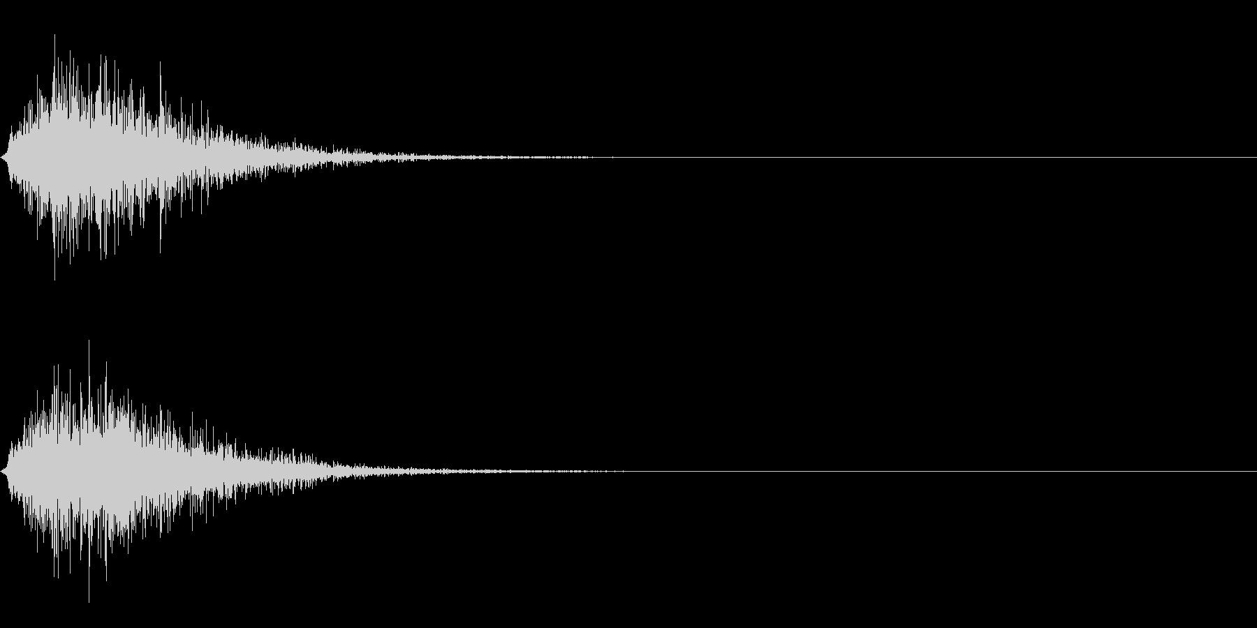 サウンドロゴ(ウーシュ系)の未再生の波形