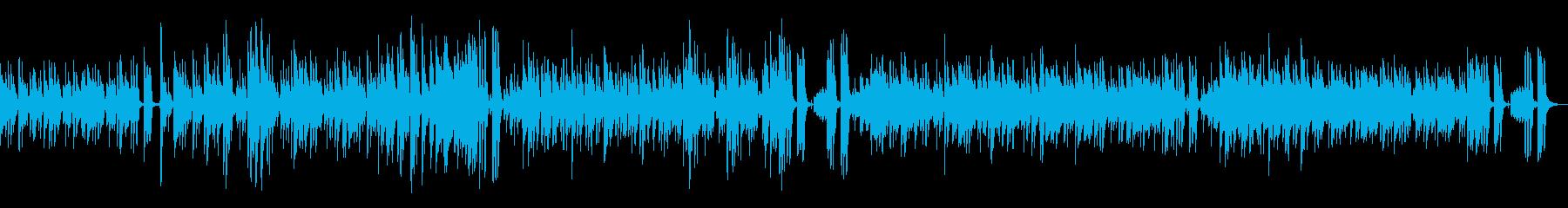 南国のリゾート地をイメージしたボサノバ曲の再生済みの波形