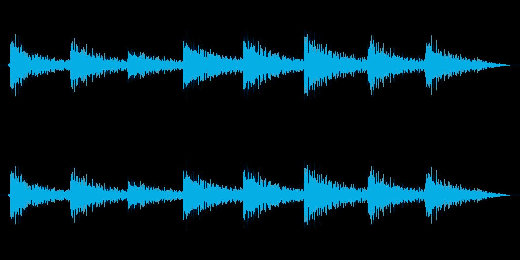 かんかんかんかんの再生済みの波形