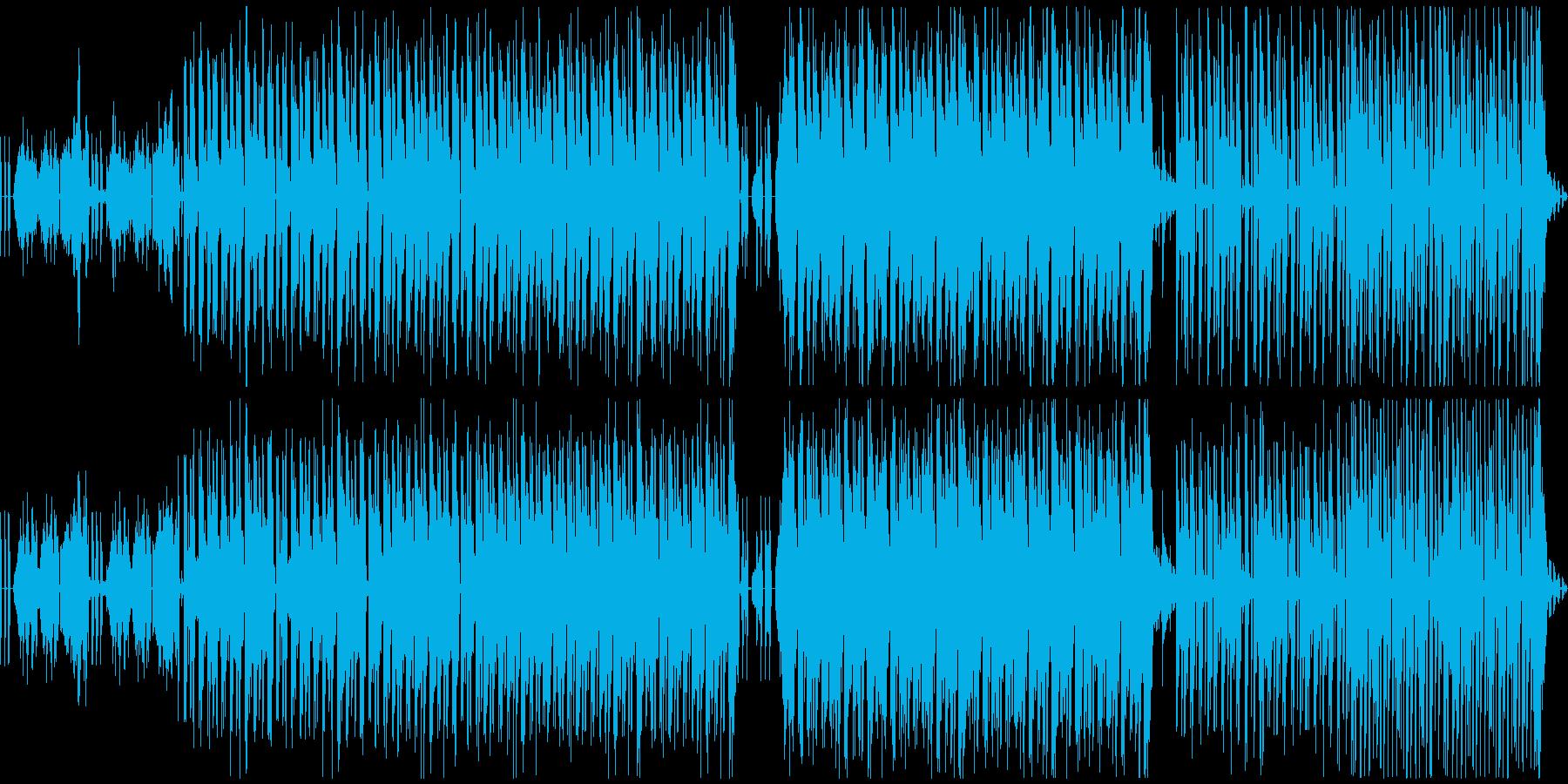 ループするハウスエレクトロニックの再生済みの波形