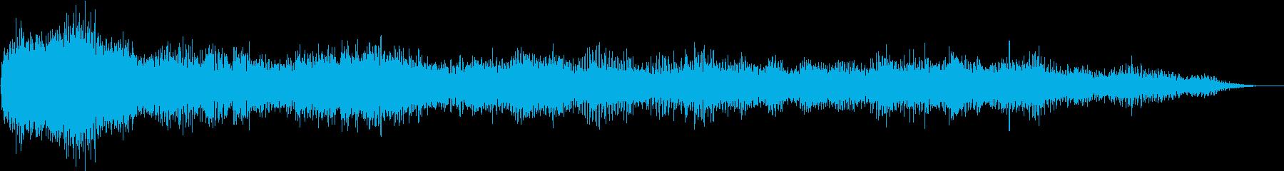 ホラー映画に出てきそうなノイズ系音源06の再生済みの波形