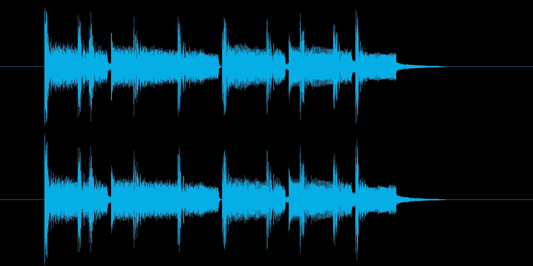 始まりのジングルの再生済みの波形