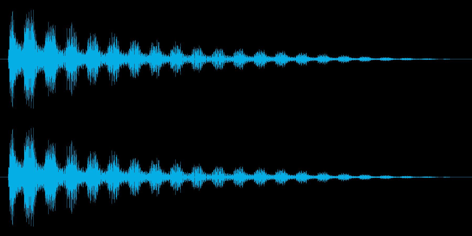 ジャ~~~ン(ゆらぎ)の再生済みの波形
