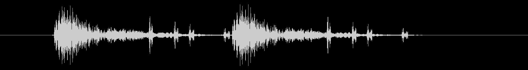 ドンチャチャドンチャチャ(リズムある音)の未再生の波形