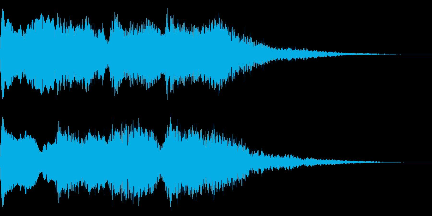 ミステリーな音 ゲームオーバー 奇怪な音の再生済みの波形