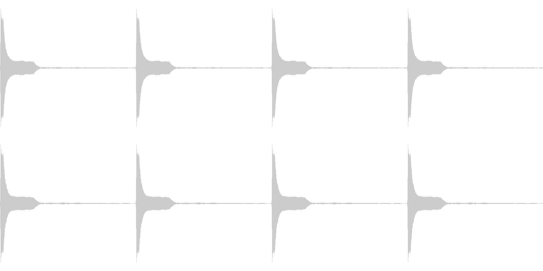 Count カウントダウン ループ 3の未再生の波形