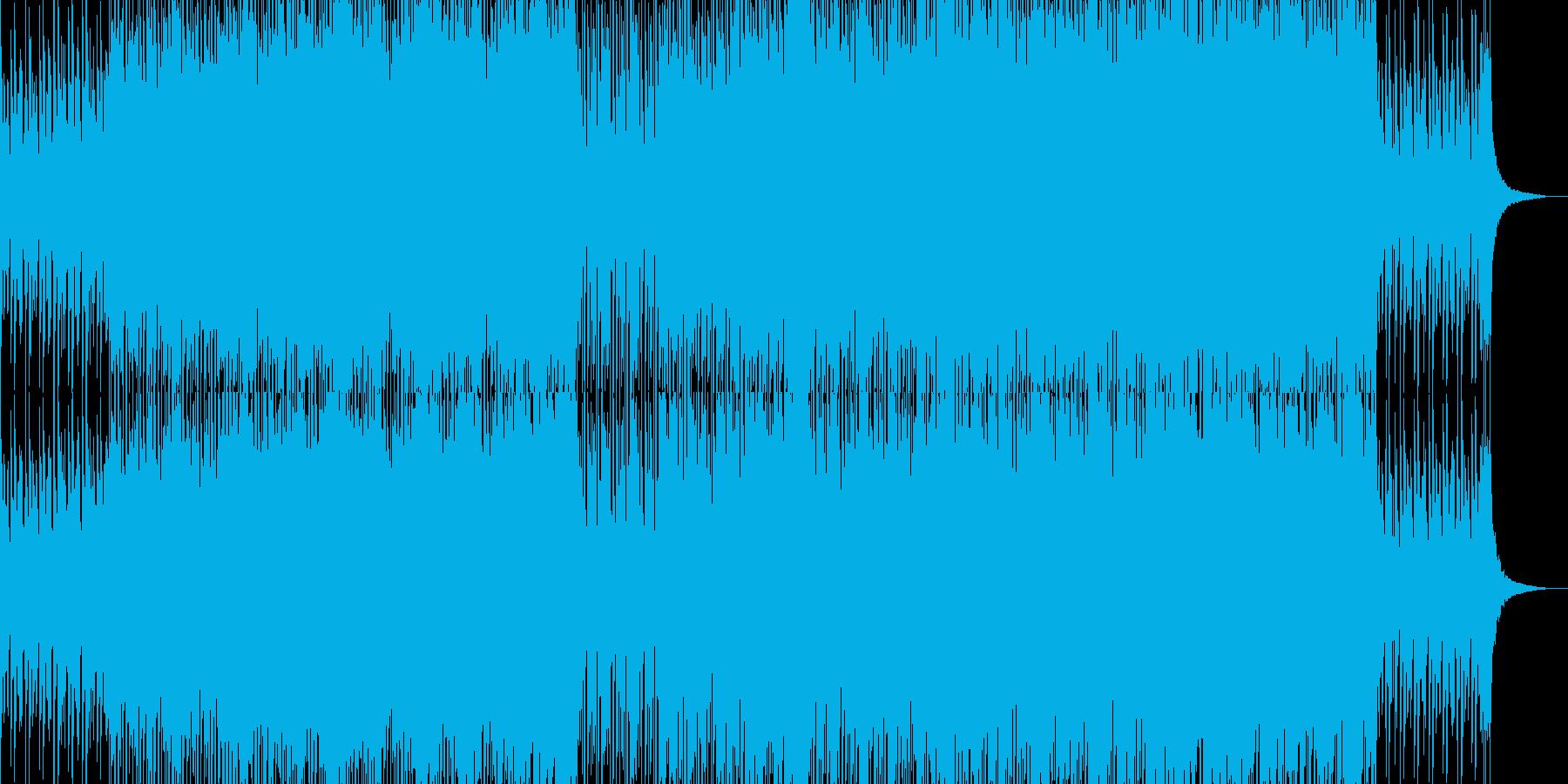 感動的・爽やか・4つ打ちの再生済みの波形