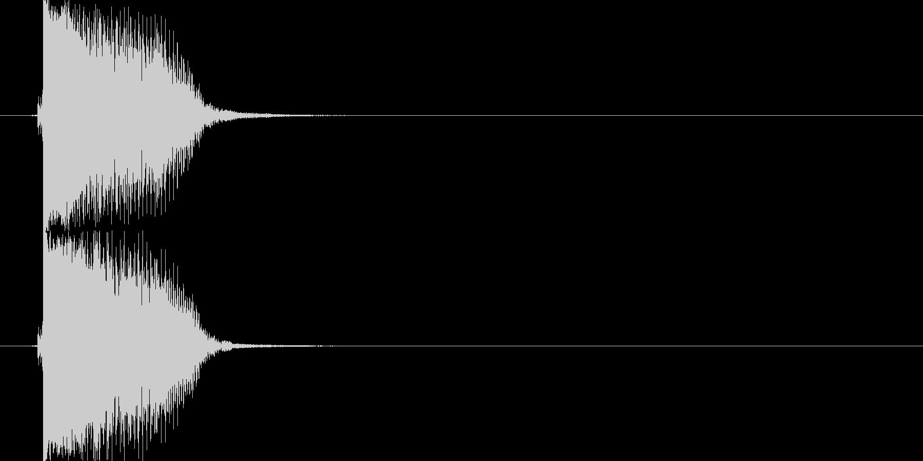 アクセントやポイント切り替えフレーズの未再生の波形
