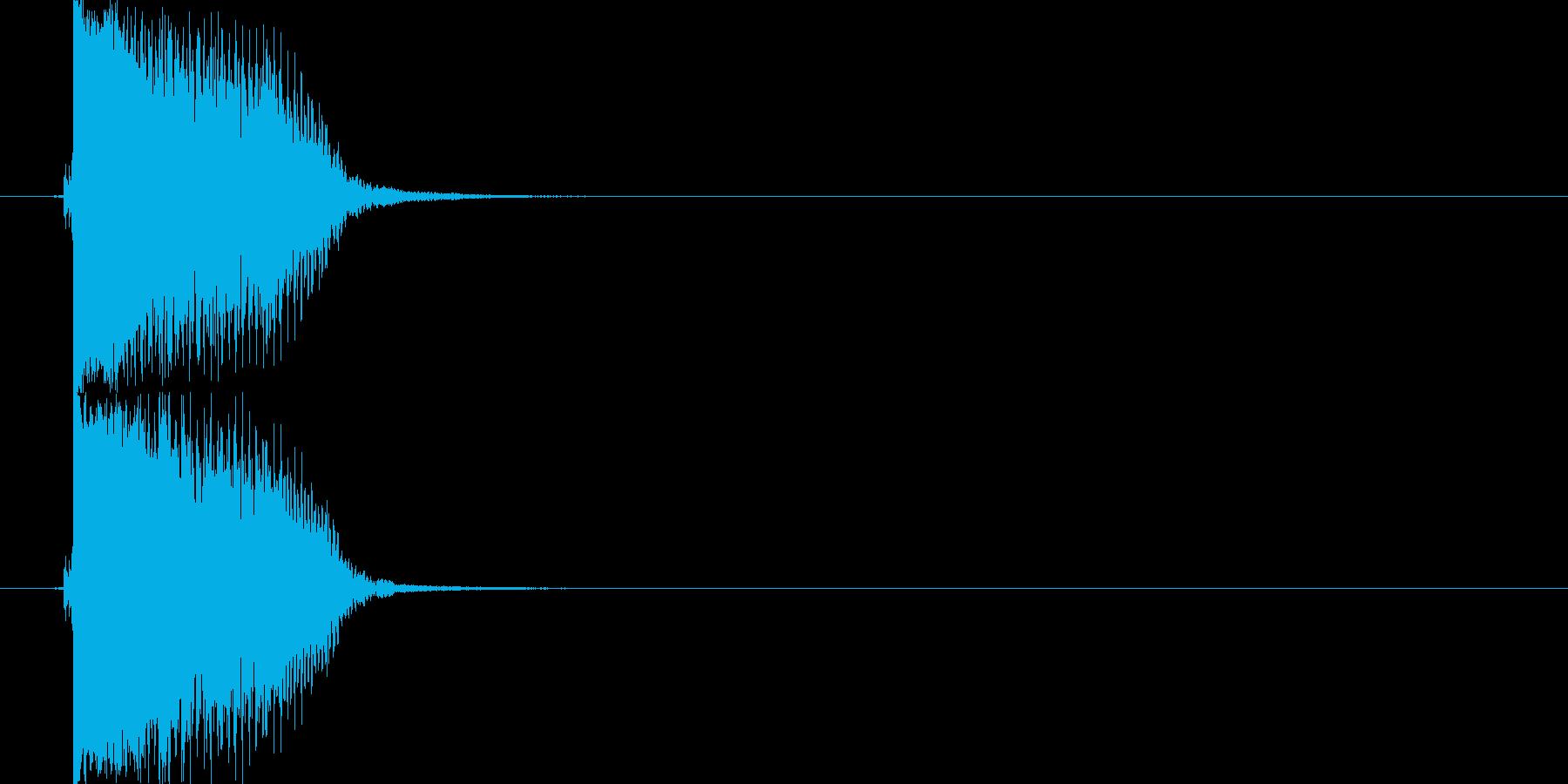 アクセントやポイント切り替えフレーズの再生済みの波形