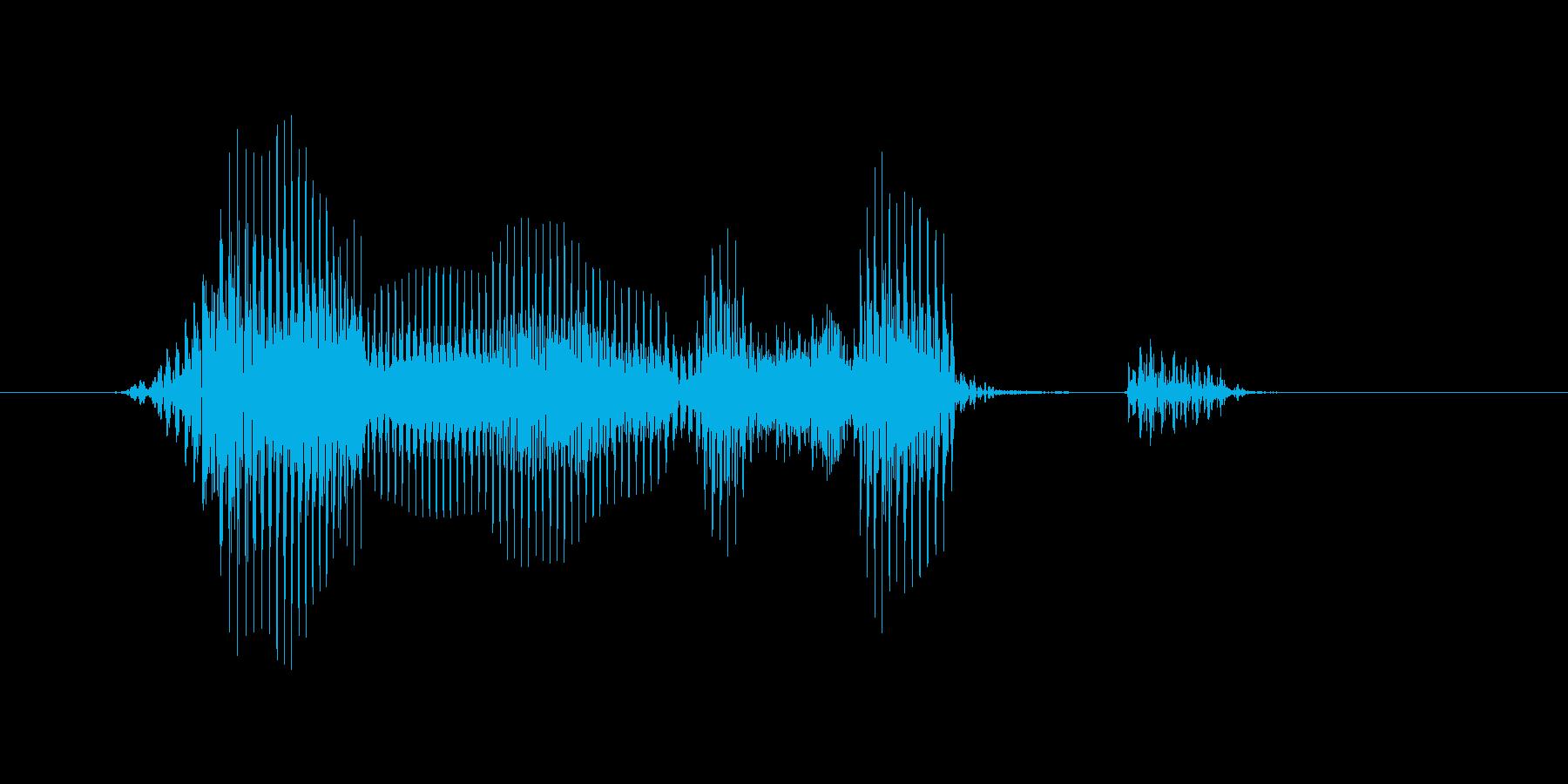 ランニングショットの再生済みの波形