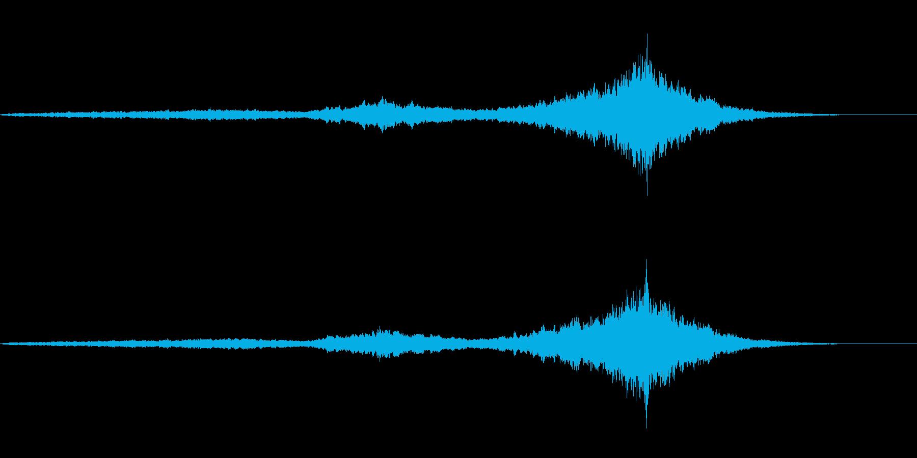 ロングトーンで神々しい雰囲気の曲の再生済みの波形