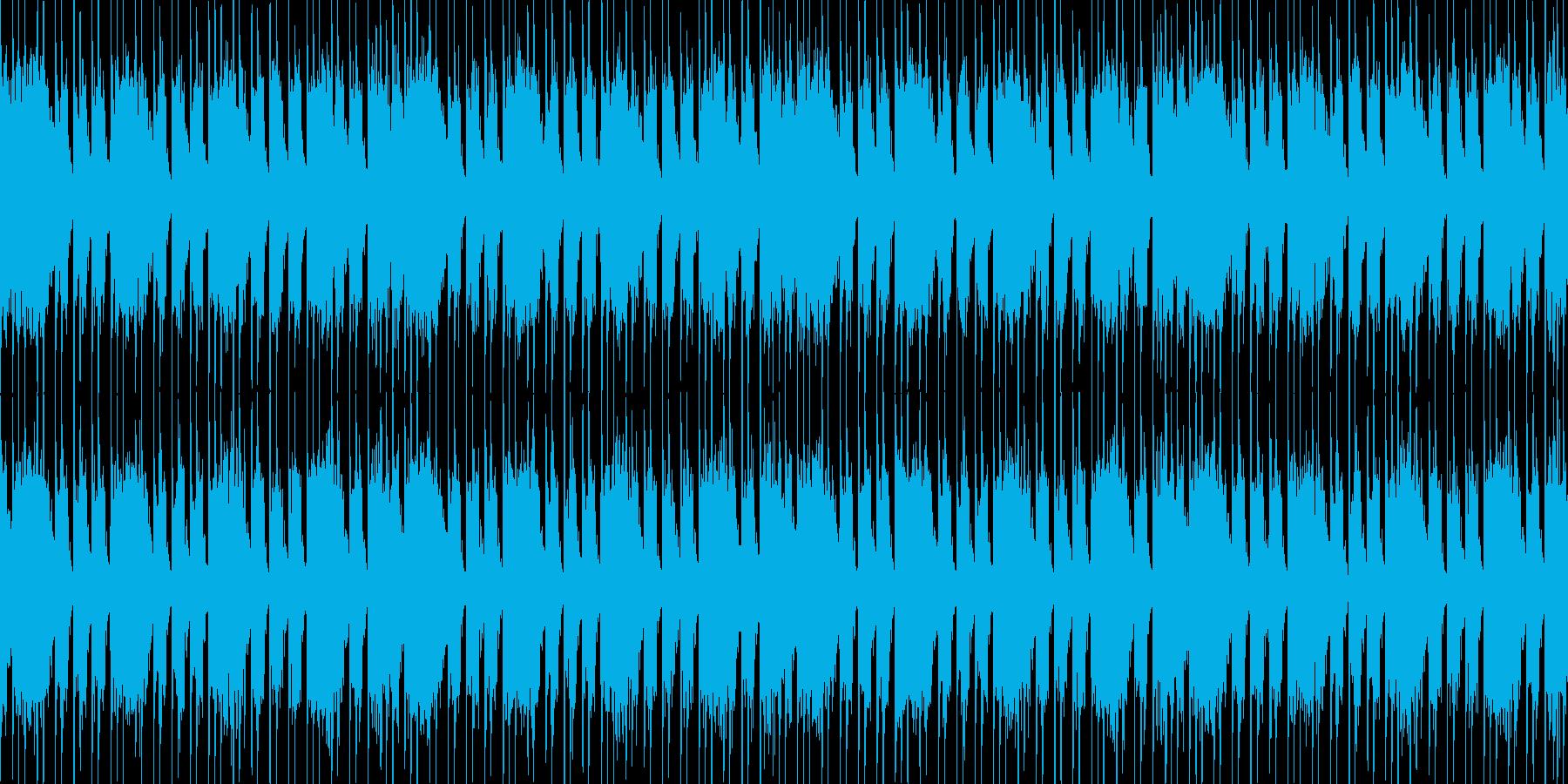 コアメタル風のヘヴィーLOOP BGMの再生済みの波形