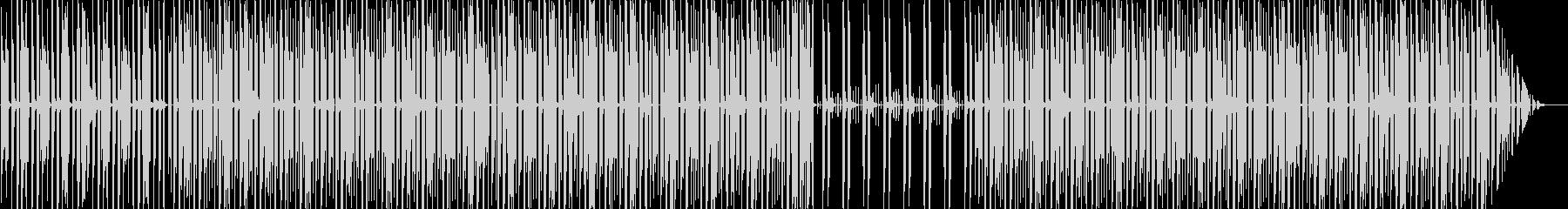 不気味でおしゃれなエレビサウンドの未再生の波形