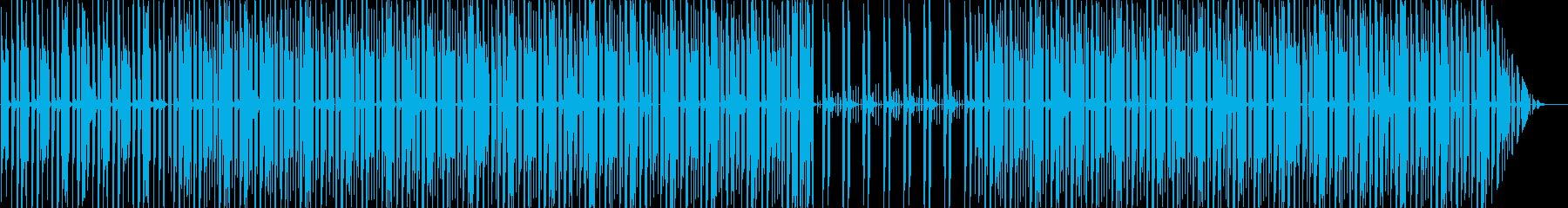 不気味でおしゃれなエレビサウンドの再生済みの波形