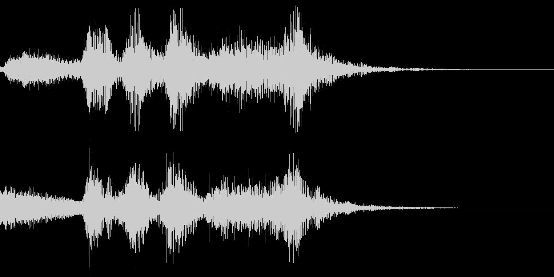 ハロウィン系ジングル3の未再生の波形