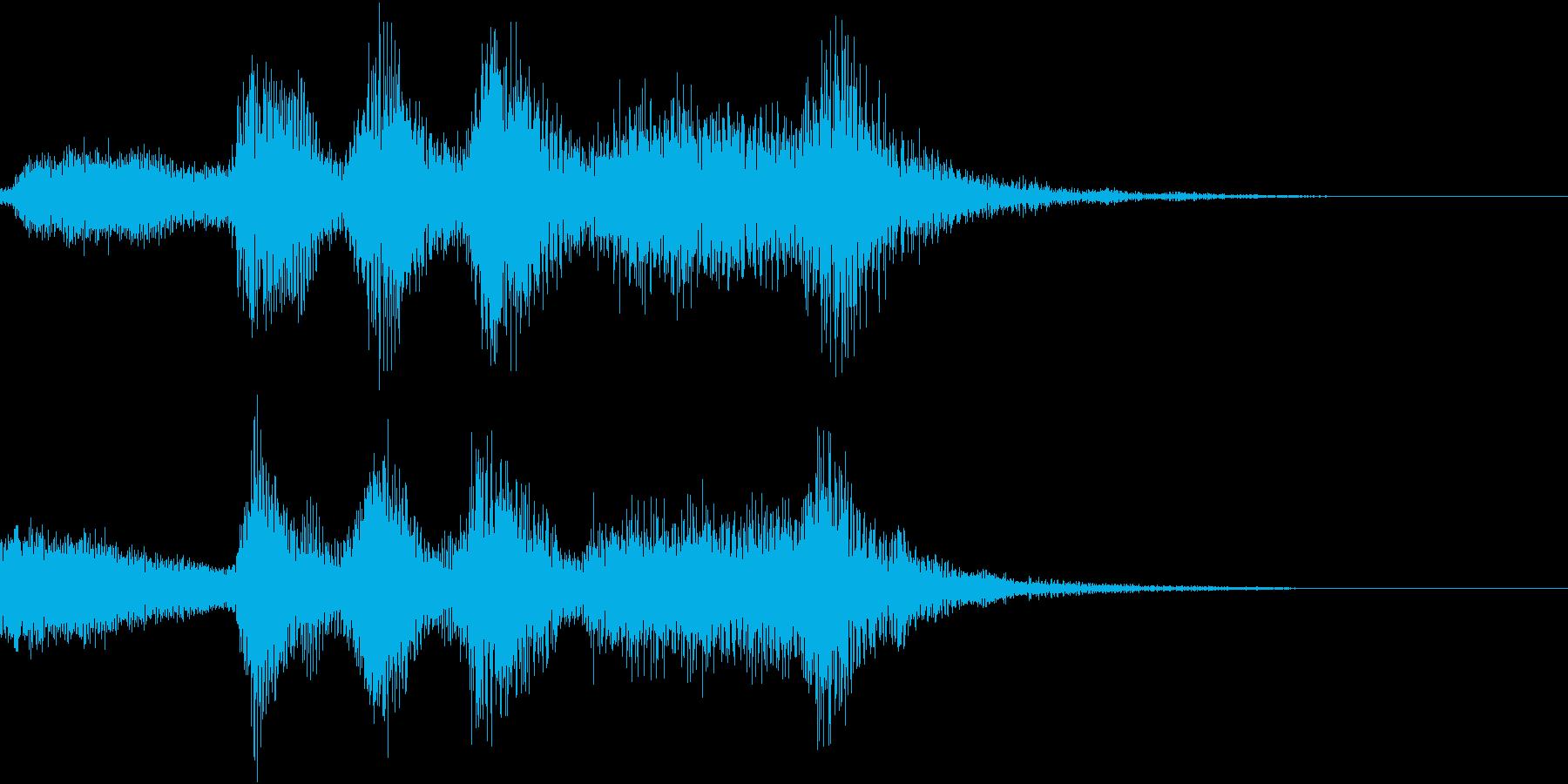 ハロウィン系ジングル3の再生済みの波形